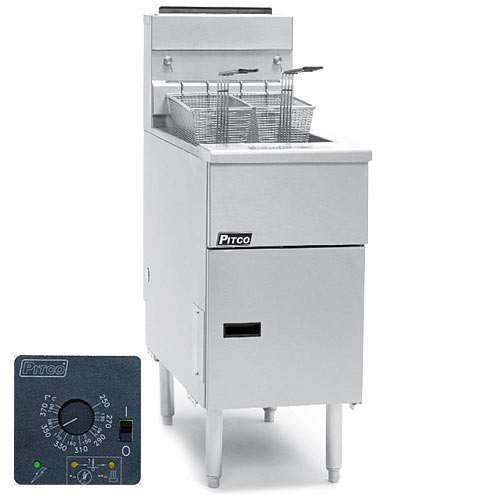 Pitco Solstice Solid State Control High Capacity Gas System Fryer  - 40-50 lbs SG14RS-SSTC