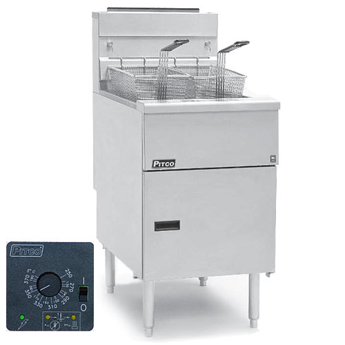 Pitco Solstice Solid State Control Gas System Fryer - 70-90 lbs SG18S-SSTC