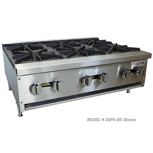 Saturn Heavy Duty Gas Hotplates - 2 Burner SHP2-HD