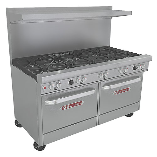 Southbend Ultimate Gas Restaurant Range 10 Burners w/ 2 Ovens 4601DD