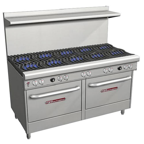 Southbend Ultimate Gas Restaurant Range - 10 Burners & 2 Ovens 4602DD
