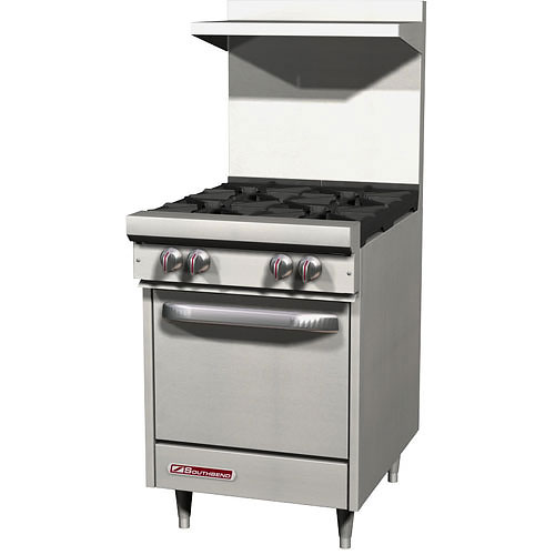 Southbend S-Series Gas Restaurant Range 4 Burners w/ Oven S24E