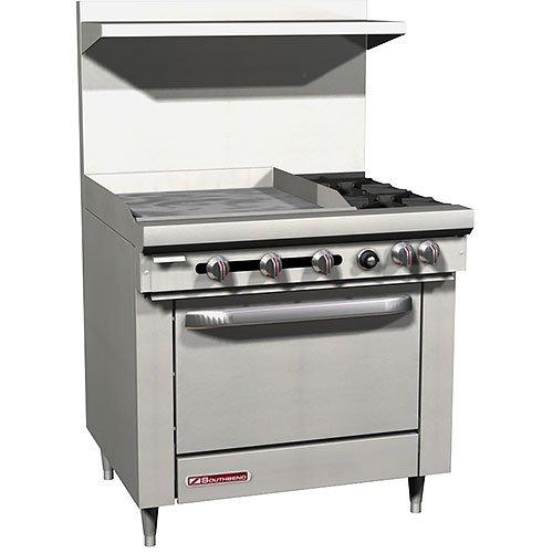 "Southbend S-Series Gas Mixed Top Restaurant Range 2 Burners w/ 24"" Griddle S36D-2GL"