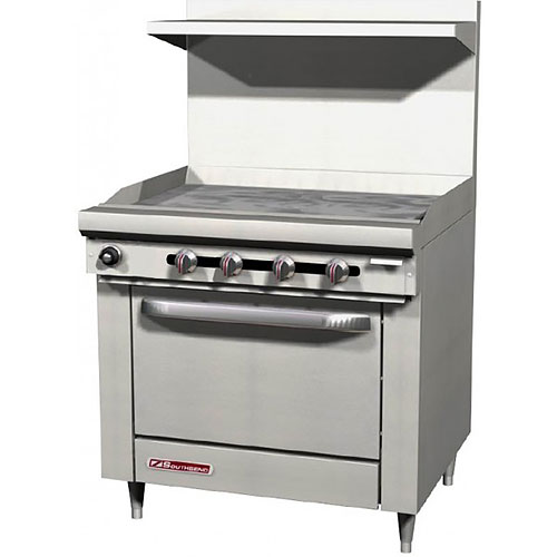 "Southbend S-Series Gas Restaurant Range 36"" Griddle w/ Oven S36D-3G"