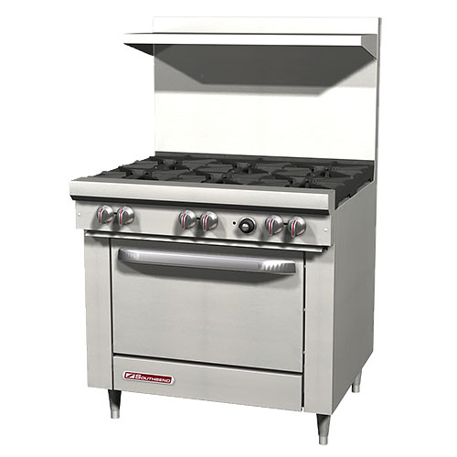 Southbend S-Series Gas Restaurant Range 6 Burners w/ Oven S36D