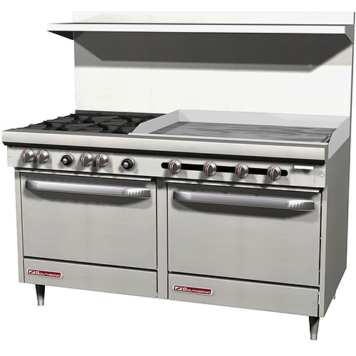 "Southbend S-Series Gas Restaurant Range 4 Burners 36"" Griddle  w/ 2 Ovens S60DD-3GL 2"