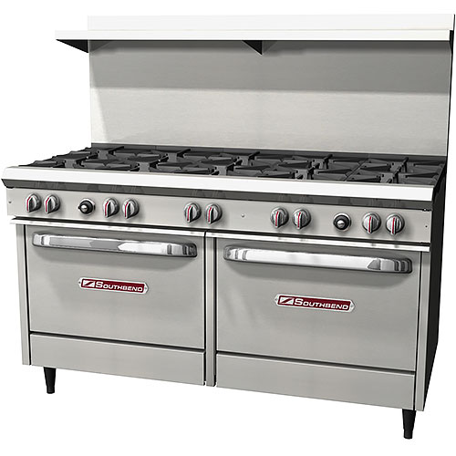 Southbend S-Series Gas Restaurant Range 10 Burners w/ 2 Ovens S60DD