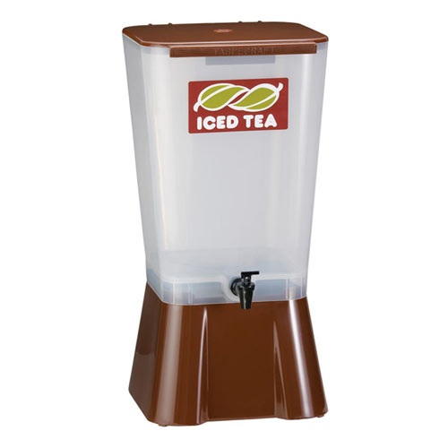 Tablecraft Plastic Beverage Dispenser, 5 gal Brown 1054