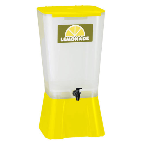 Tablecraft Plastic Beverage Dispenser, 5 gal Yellow  1055