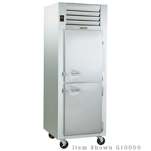 Traulsen G Series 1 Section Solid Half Door Reach-in Refrigerator - Hinged L G10001
