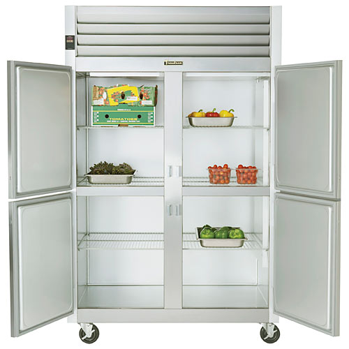 Traulsen G Series 2 Section Solid Half Door Reach-in Refrigerator - Hinged L-R G20000