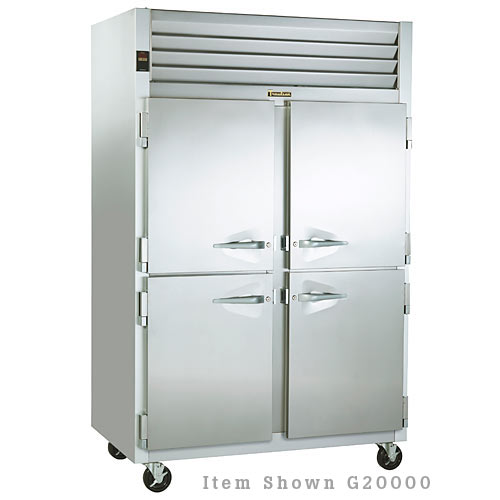 Traulsen G Series 2 Section Solid Half Door Reach-in Refrigerator - Hinged R-L G20001