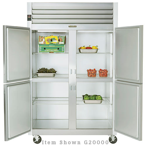 Traulsen G Series 2 Section Solid Half Door Reach-in Refrigerator - Hinged R-R G20002