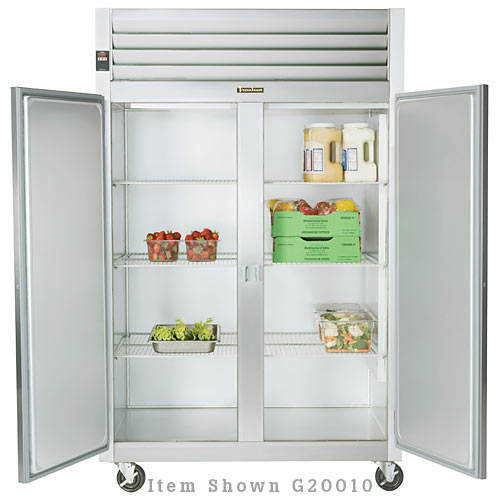 Traulsen G Series 2 Section Solid Full Door Reach-in Refrigerator - Hinged R-R G20012