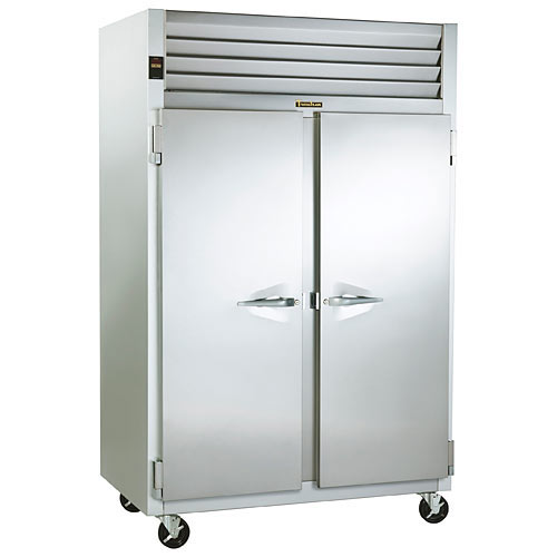 Traulsen G Series 2 Section Solid Full Door Pass Thru Refrigerator - Hinged L-R G20014P