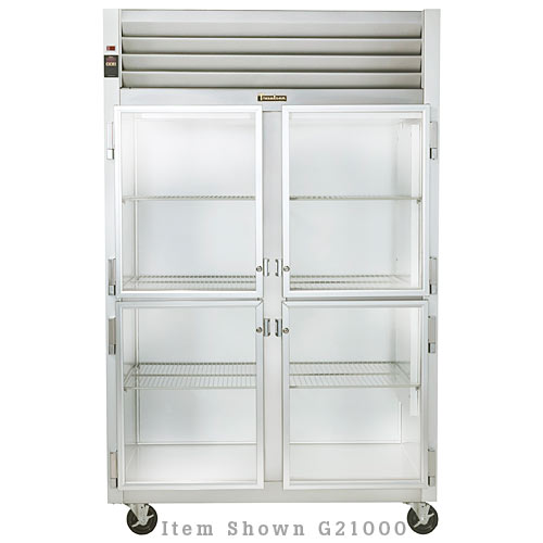 Traulsen G Series 2 Section Glass Half Door Reach-in Refrigerator - Hinged R-L G21001