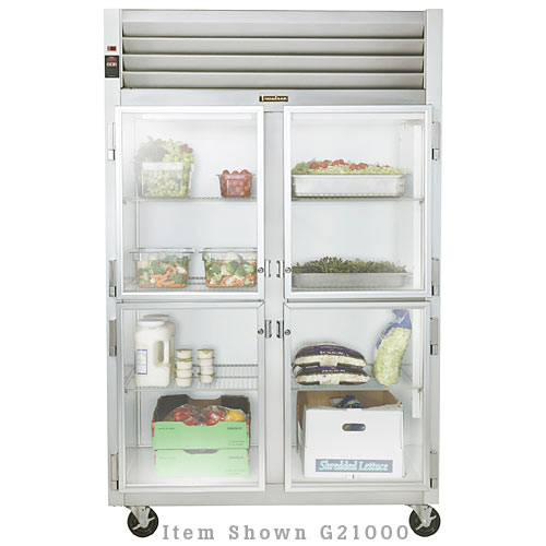 Traulsen G Series 2 Section Glass Half Door Reach-in Refrigerator - Hinged R-R G21002