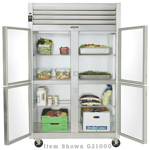 Traulsen G Series 2 Section Glass Half Door Reach-in Refrigerator - Hinged L-L G21003