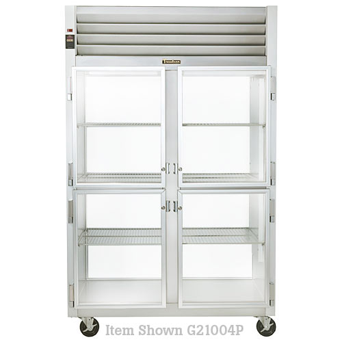 Traulsen G Series 2 Section Glass Half Door Pass Thru Refrigerator - Hinged L-R G21004P