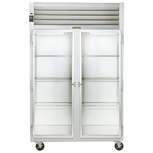 Traulsen G Series 2 Section Glass Full Door Reach-in Refrigerator - Hinged L-R G21010