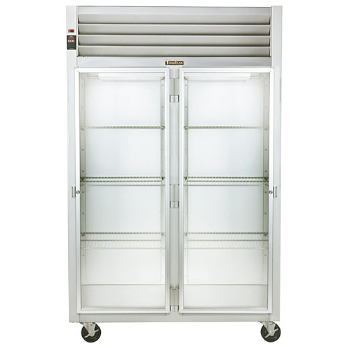 Traulsen G Series 2 Section Glass Full Door Reach-in Refrigerator - Hinged R-L G21011