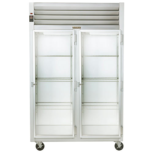Traulsen G Series 2 Section Glass Full Door Reach-in Refrigerator - Hinged R-R G21012