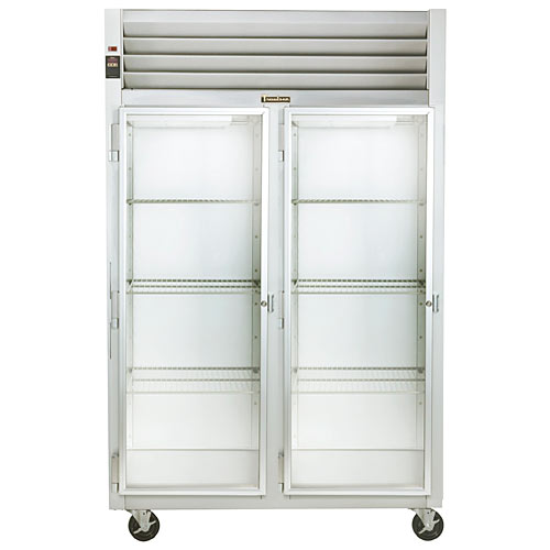 Traulsen G Series 2 Section Glass Full Door Reach-in Refrigerator - Hinged L-L G21013