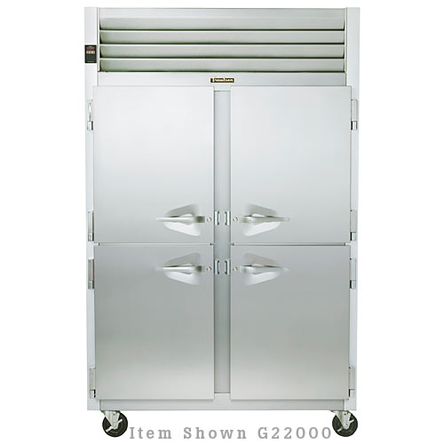 Traulsen G Series 2 Section Solid Half Door Reach-in Freezer - Hinged R-L G22001