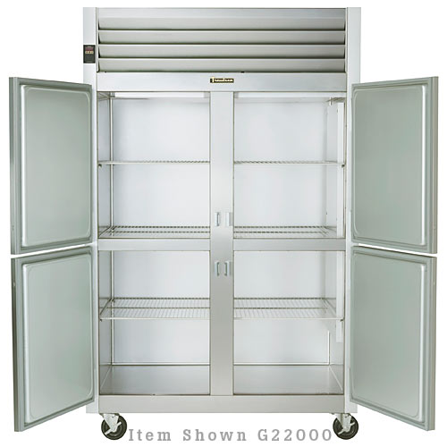 Traulsen G Series 2 Section Solid Half Door Reach-in Freezer - Hinged R-R G22002