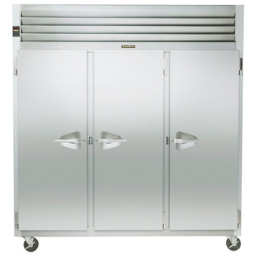 Traulsen G Series 3 Section Solid Full Door Reach-in Refrigerator - Hinged L-R-R G30010