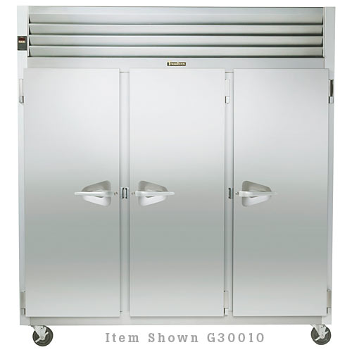 Traulsen G Series 3 Section Solid Full Door Reach-in Refrigerator - Hinged L-L-R G30011