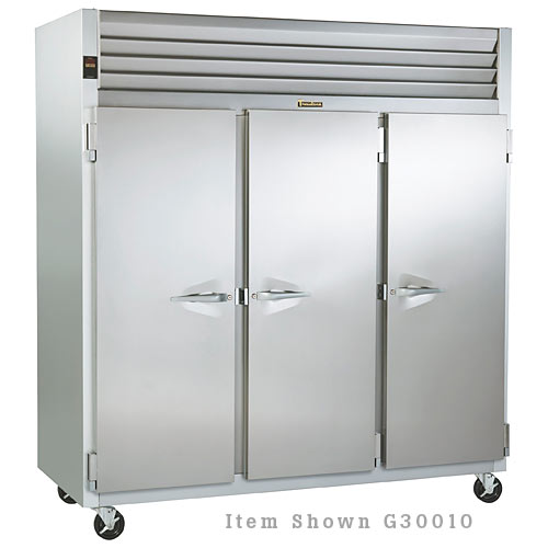 Traulsen G Series 3 Section Solid Full Door Reach-in Refrigerator - Hinged R-R-R G30012