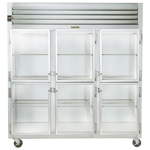 Traulsen G Series 3 Section Glass Half Door Reach-in Refrigerator - Hinged L-R-R G32000