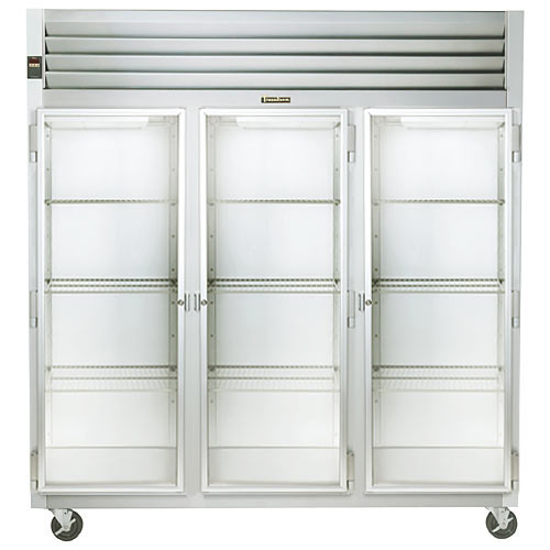 Traulsen G Series 3 Section Glass Full Door Reach-in Refrigerator - Hinged L-R-R G32010