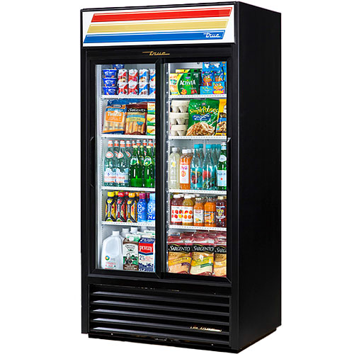 "True Slide Door Merchandiser Refrigerator - 40"" GDM-33-HC-LD"