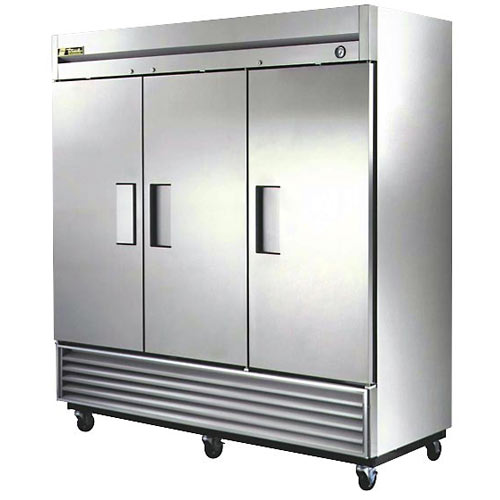 True Solid 3 Door Reach-In Refrigerator, T Series T-72