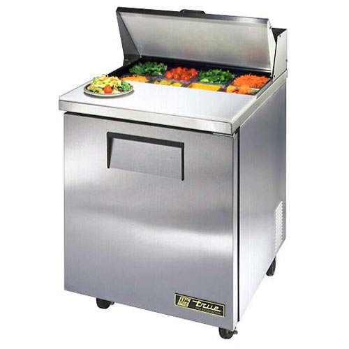 "True 27"" Solid Door Sandwich/Salad Unit - 8 Pans TSSU-27-08-HC"