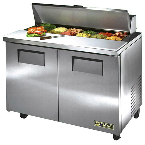 "True 48"" Solid Door Sandwich/Salad Unit - 12 Pans TSSU-48-12-HC"
