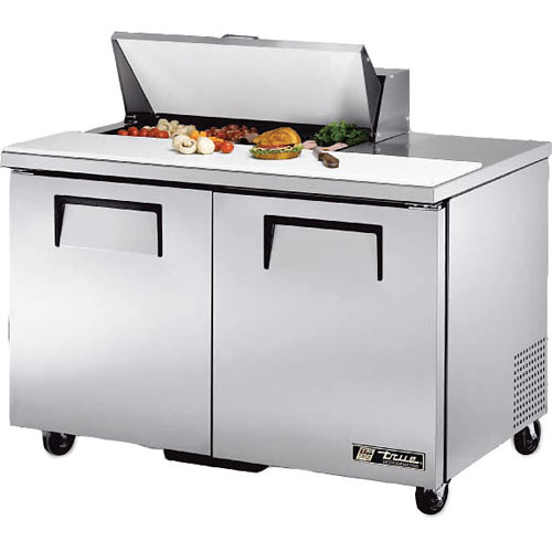 "True 48"" Solid Door Sandwich/Salad Unit - 8 Pans TSSU-48-08-HC"