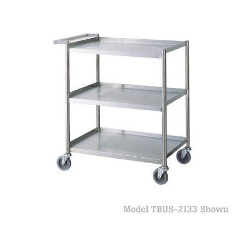 "Turbo Air Stainless Steel Bus Cart - 21"" x 33"" TBUS-2133"
