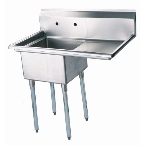 "Turbo Air 1 Compartment Sink w/Right Drainboard 18"" TSA-1-12-R1"