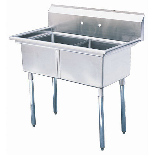 "Turbo Air 2 Compartment Prep Sink 18"" TSA-2-N"