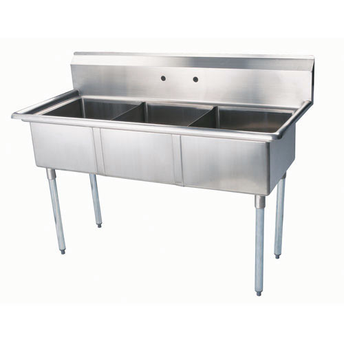 "Turbo Air 3 Compartment Sink 24"" TSB-3-N"