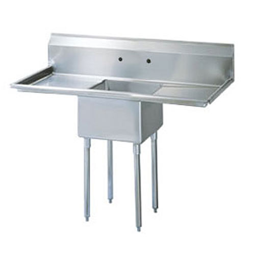 Turbo Air 1 Compartment Sink w/Double Drainboard TSB-1-D2