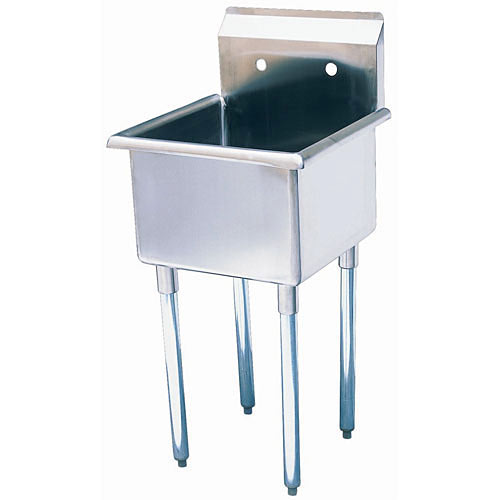 "Turbo Air 1 Compartment Prep Sink 24"" TSB-1-N"