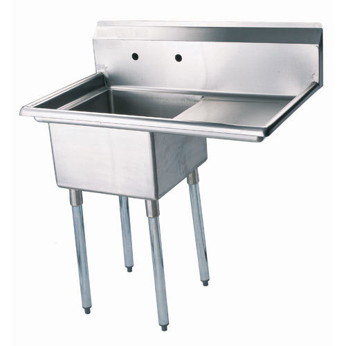 "Turbo Air 1 Compartment Sink w/Right Drainboard 24""  TSB-1-R2"