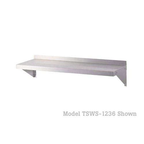 "Turbo Air Stainless Steel Wall Shelves - 12"" x 48"" TSWS-1248"