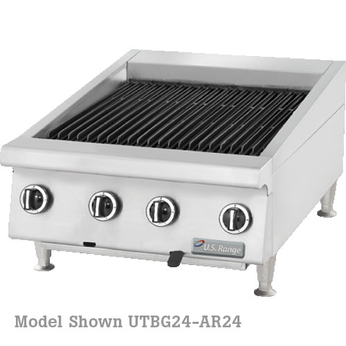 "US Range Heavy Duty Gas Radiant Charbroiler With Adjustable Grates-60"" UTBG60-AR60"