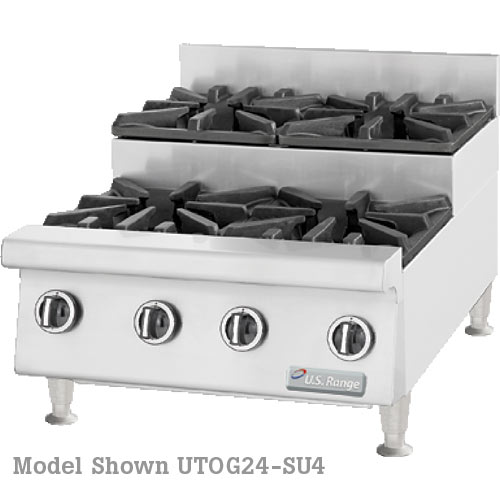 "US Range Heavy Duty Gas Step-Up Hotplate-48"" UTOG48-SU8"
