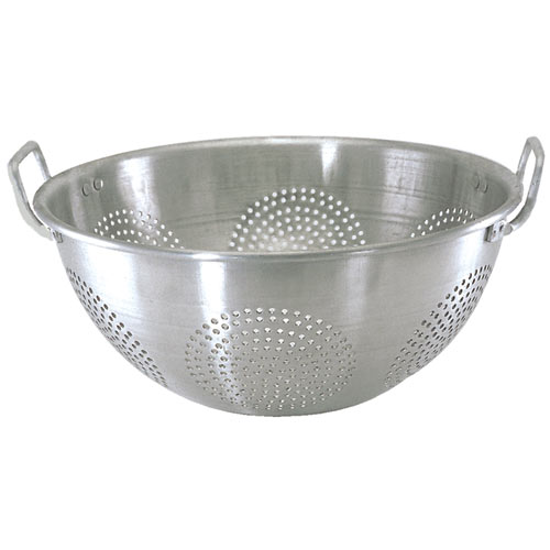 Update Aluminum Chinese Colander w/ Handles - 16 qt ACO-16CH